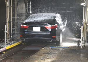 A car being washed