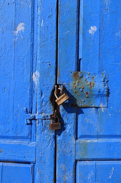 Blue door, lock - find out about dos and don'ts of self-storage units as much as you can.
