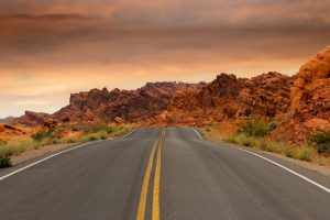 A road in Nevada.