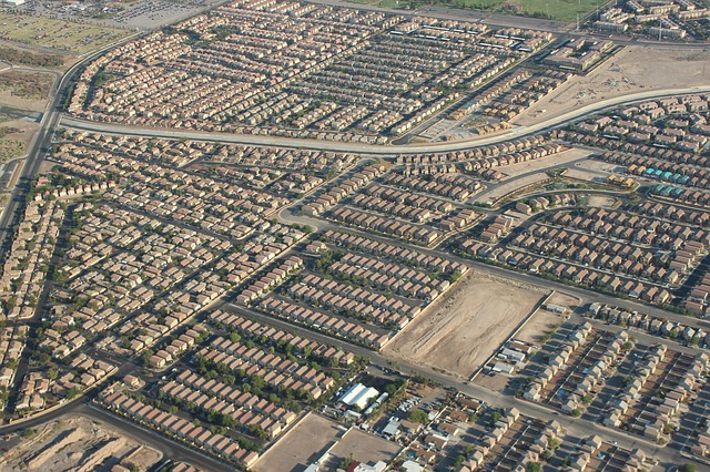A bird view of Las Vegas.