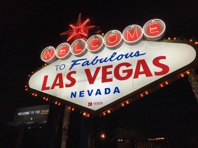 Sign in Las Vegas stating: Welcome to fabulous Las Vegas, Nevada.