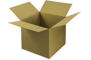 An open cardboard box to pack your items when mvoing from Virginia to Nevada.