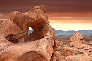 Valley of fire in Las Vegas.