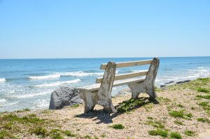 A bench at the beach