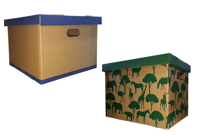 Reuse moving cardboard boxes as a decoration boxes.