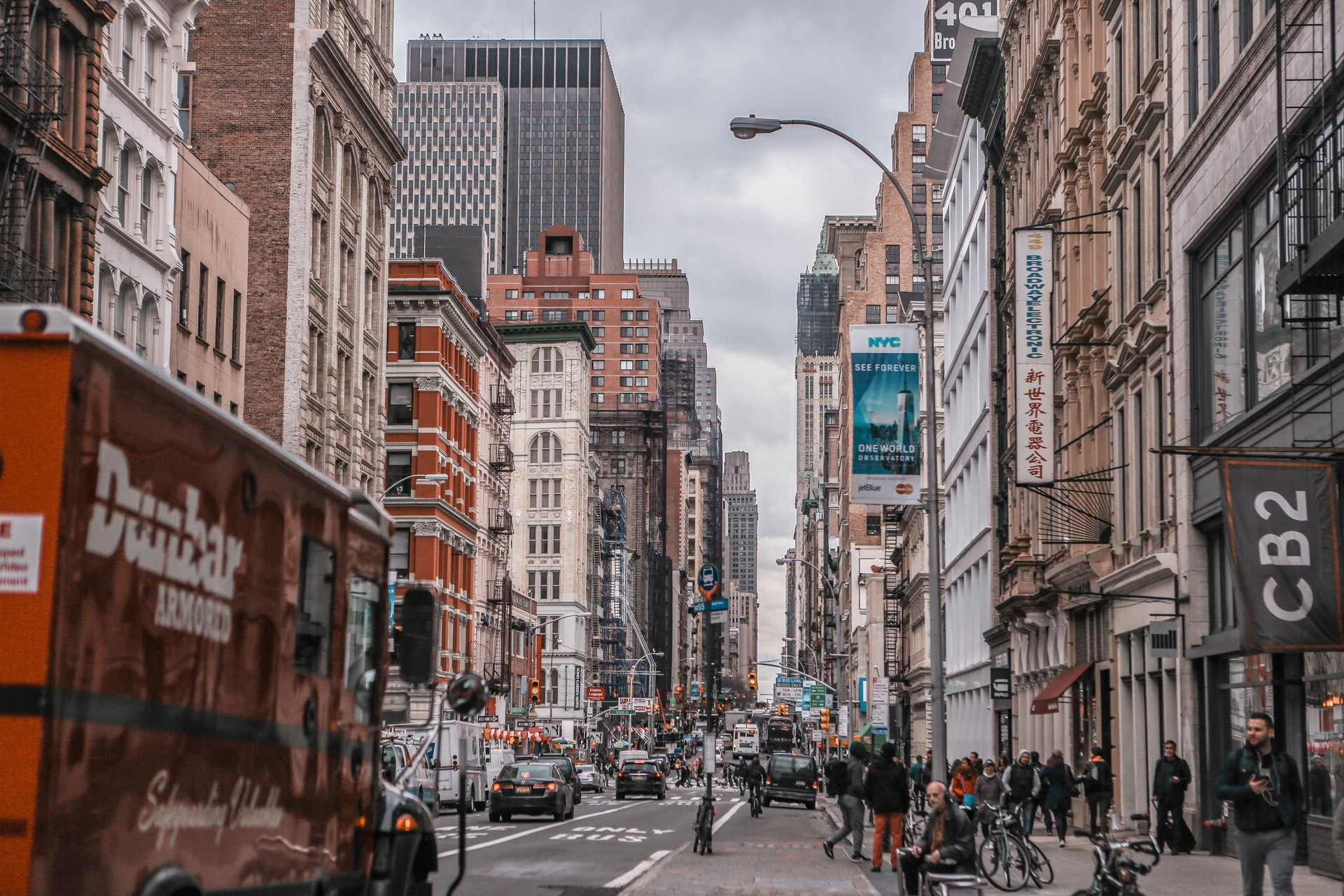 Busy everyday street life of NYC.