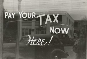 Pay your tax now here caption