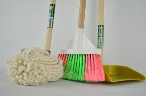 Cleaning supplies as your kids can help you clean your house before your family move from Florida to Nevada.