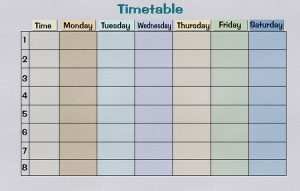 Timetable. Use it to prepare everything you need for a move from Nevada to Louisiana in less than a week.